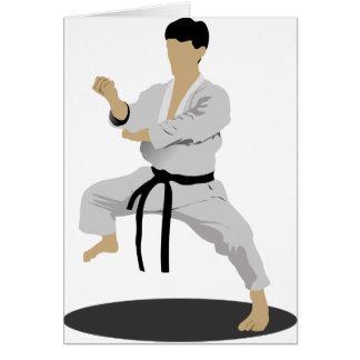 De karate stelt de Kaarten van de Nota