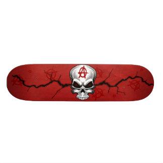 De karmozijnrode Anarchie van de Schedel 19,7 Cm Skateboard Deck