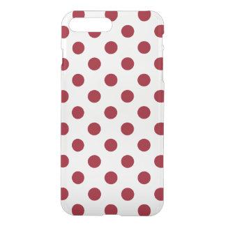 De karmozijnrode Rode Cirkels van Stippen iPhone 8/7 Plus Hoesje