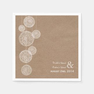 De karton Geïnspireerde Servetten van het Huwelijk Papieren Servetten