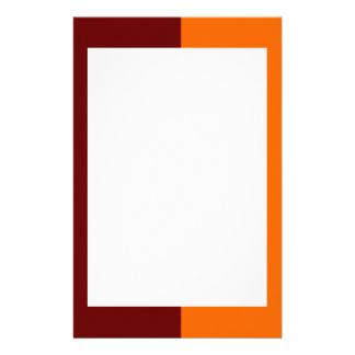 De kastanjebruine en Oranje Kantoorbehoeften van d Briefpapier