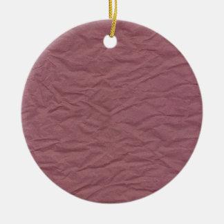De kastanjebruine Gerimpelde Textuur van het Rond Keramisch Ornament