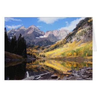 De kastanjebruine Herfst van Colorado van Klokken Kaart