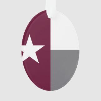 De kastanjebruine Vlag van Texas