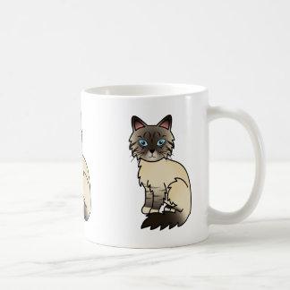 De Kat Birman/Ragdoll van de Gestreepte kat van Koffiemok
