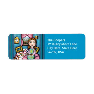 De Kat & Dame Art Return Adresetiket van de douane Etiket