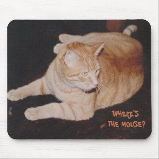 De Kat die van de tijger op Muis Mousepad wachten Muismatten