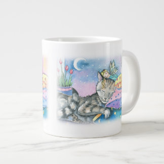 De Kat en de Fee van de gestreepte kat Grote Koffiekop