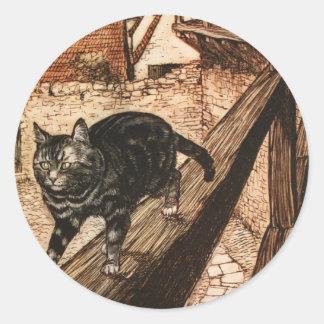 De kat en de Muis in Vennootschap Ronde Sticker