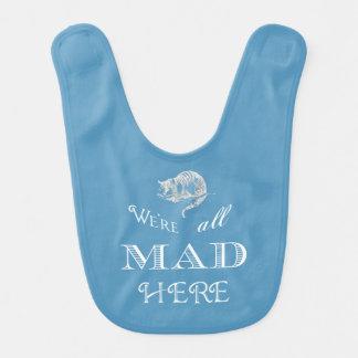 De Kat Gekke Alice Blue Bib van Cheshire Baby Slabbetje