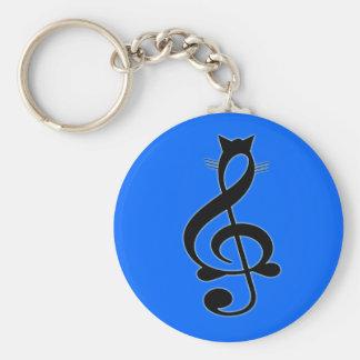 De Kat Keychain van de jazz Sleutelhanger