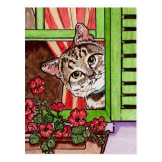 De kat van Bonjour Briefkaart