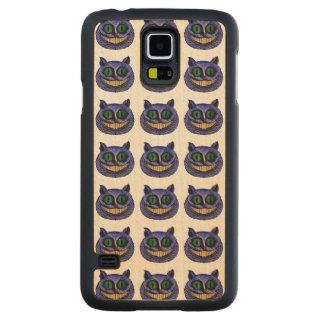 De KAT van CHESHIRE HOOFD (Alice in Sprookjesland) Esdoorn Galaxy S5 Slim Hoesje