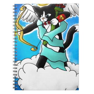 De Kat van de Cupido van de Smoking van de Ringband Notitieboek