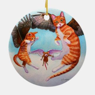 De Kat van de engel en het Ornament van Kerstmis