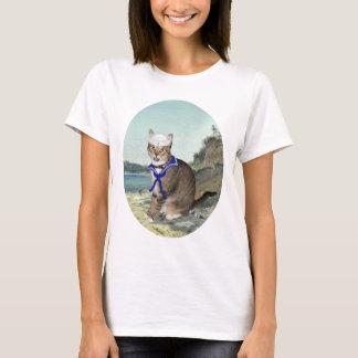 De Kat van de gestreepte kat bij het Strand T Shirt