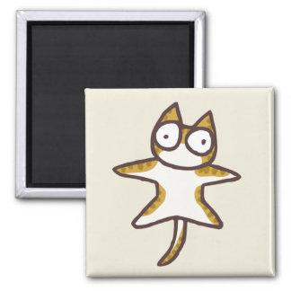 De Kat van de gestreepte kat Magneet