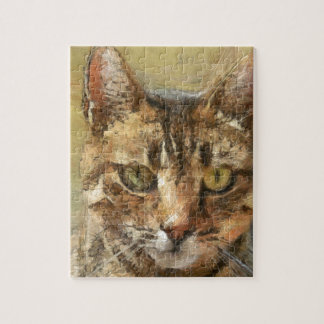 De Kat van de gestreepte kat Puzzel