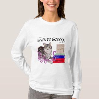 De Kat van de gestreepte kat terug naar School T Shirt