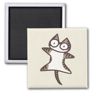 De Kat van de Gestreepte kat van Glay Magneet