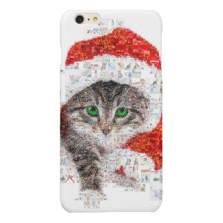 de kat van de Kerstman - kattencollage - kat - Glossy iPhone 6 Plus Hoesje