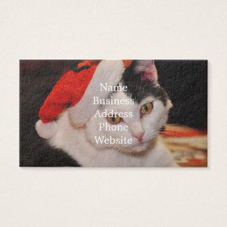 De kat van de Kerstman - vrolijke Kerstmis - Visitekaartjes