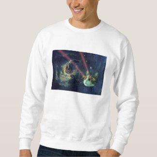De kat van de laser met glazen in ruimte trui