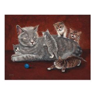De Kat van de mama met het Briefkaart van Katjes