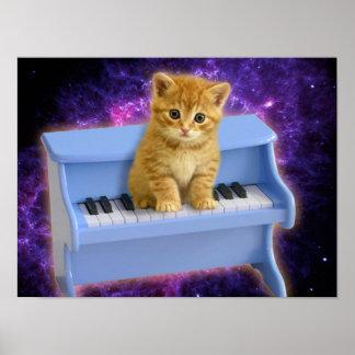 De kat van de piano poster