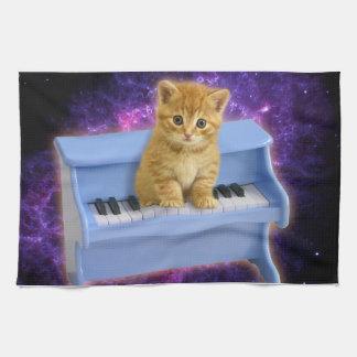 De kat van de piano theedoek
