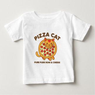 De Kat van de pizza Baby T Shirts