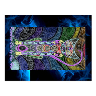 De Kat van de regenboog Briefkaart