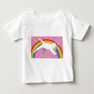 De Kat van de Regenboog van de eenhoorn Baby T Shirts