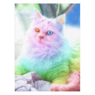 De Kat van de Regenboog van de eenhoorn Tafelkleed