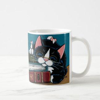 De Kat van de smoking & de Witte Illustratie van Koffiemok