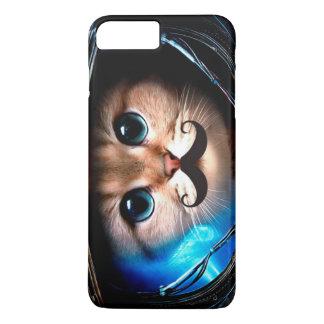 De Kat van de Snor van de astronaut iPhone 8/7 Plus Hoesje