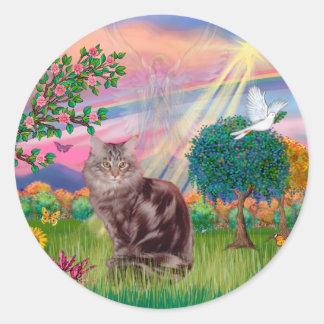 De Kat van de Wasbeer van Maine - de Engel van de Ronde Sticker