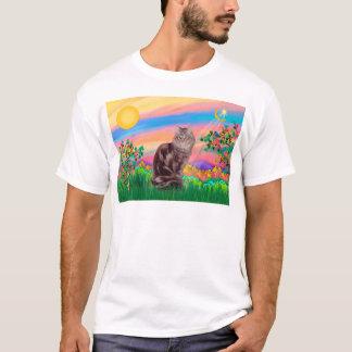 De Kat van de Wasbeer van Maine - de Ster van de T Shirt