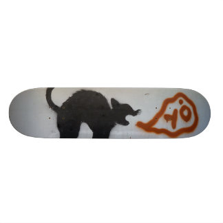 De kat van Graffiti 21,6 Cm Old School Skateboard Deck