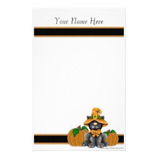 De Kat van Halloween met de Persoonlijke Kantoorbe Briefpapier