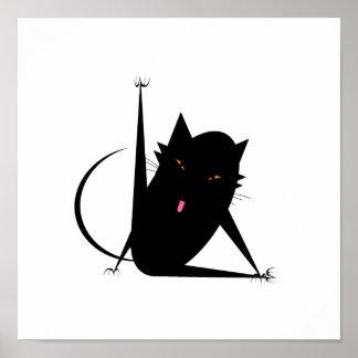 De Kat van het bad Poster