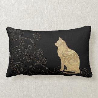 De Kat van het brokaat met het Lumbale Hoofdkussen Lumbar Kussen