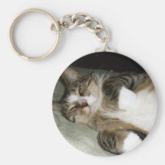 De Kat van het Eiland Man Keychain Sleutelhanger