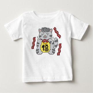 De Kat van het Kat van het bacon Baby T Shirts