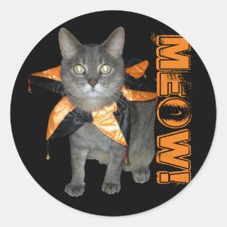 De Kat van het Kostuum van de miauw Ronde Stickers