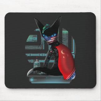 De Kat van Ninja van Cyberpunk Muismat