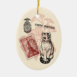 De Kat van Parijs Keramisch Ovaal Ornament