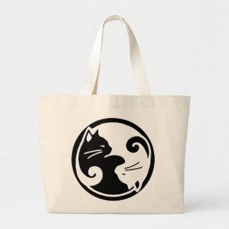 De Kat van Yang van Yin/Tao van het Canvas tas van