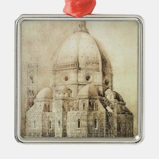 De Kathedraal van Florence van het Oosten, van Zilverkleurig Vierkant Ornament