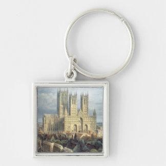 De Kathedraal van Lincoln van het Noordwesten, c.1 Sleutelhanger